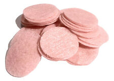 "1"" light pink felt circles / 10 pieces / die cut appliqués for hair bow making"