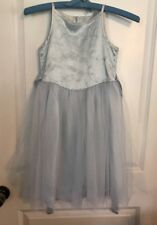 Pretty Jenny Annie Dots Pale Blue Floral Church Picture Holiday Dress Size 6X