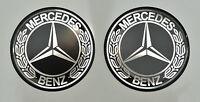 4pcs Mercedes Benz (56mm) Vintage Logo Gewölbt 3D Aufkleber/Aufkleber