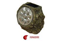 LAMPADA SOLARE DA GIARDINO CREPUSCOLARE 8 LED IN GRANITO ART. 55651