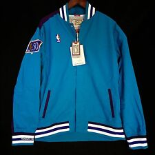 100% Authentic Mitchell & Ness Hornets Warm Up Shirt Jacket Size 44 L