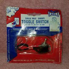 Genuine EAGLE TOGGLE SWITCH BP452 SPST - NIP Canopy - 3A250V 6A125V - FreeShip