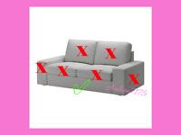 IKEA KIVIK Body Slipcover Cover ONLY for Loveseat 2-Seat Sofa Orrsta Light Gray