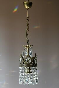 Antique French Vintage Crystal Chandelier Pendant Home Ceiling Lights Small Lamp