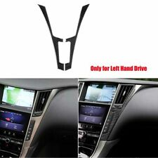 Carbon Fiber Rear Seat Water Cup Holder Panel Cover For Infiniti Q50 Q60 14-19 k