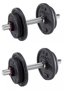 20kg Dumbbells Cast Iron Adjustable Sets Train Arms, Chest, Back, Shoulders