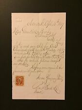 PRICE BOND CO GAUNTLETT & BROOKS ITHACA NEW YORK 1867 LETTER REVENUE STAMP