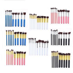 10 PCS Make up Kabuki Style Professional Makeup Brush Set Blusher Face Powder