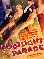 ADVERT MOVIE FILM FOOTLIGHT PARADE CAGNEY DANCE MUSIC TOP HAT TAILS PRINT BB7485