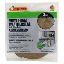 Frost King V443BH Vinyl Foam Tape 3/16-Inch, Brown