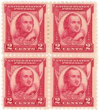 1931 2c US Postage Stamps Scott 690 General Pulaski Block of 4