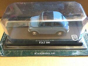 Altaya FIAT 500 - 1/43 Scale -Diecast - Model Car - Blue