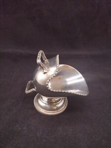 Vintage Silver Plated Sugar Scuttle Hand Engraved Victorian Kitchenalia