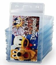 2 ID badge holder VERTICAL Clear Vinyl Zip Lock Waterproof Disney Cruise