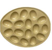 Vintage Pottery 16 Large Devil Eggs Plate Platter Ceramic Appetizer Tray OBYW