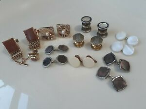 Vintage men cufflinks lot