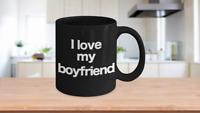 Boyfriend Mug Black Coffee Cup Funny Gift for Lover Partner Friend Valentine Lov