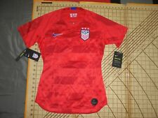 WOMENS XSMALL RED/BLUE/WHITE NIKE USA #17 HEATH SOCCER JERSEY - NWT