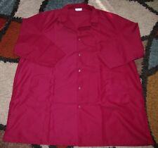 """Best Medical Men L/S Lab Coat Snaps side Vent 3 Pocket 43"""" Length Burgundy Sz 4X"""