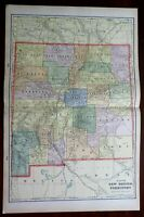 New Mexico Territory 1903 large detailed Cram double page map