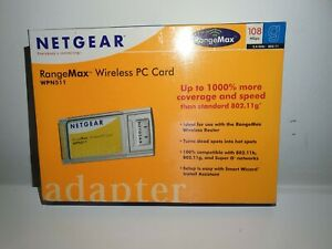 Netgear RangeMax WPN511 Wireless PC Computer Card Sealed New Home Gaming