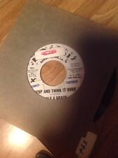 DALE AND GRACE 45 STOP AND THINK IT OVER B/W BAD LUCK EX MONTEL Promo