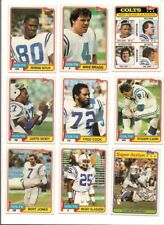 1981 Topps Indianapolis Colts Complete Football Card Team Set (16 Different)