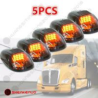 5PC Smoked Amber 45 LED Cab Marker Roof Lights for Peterbilt Kenworth Volvo Mack