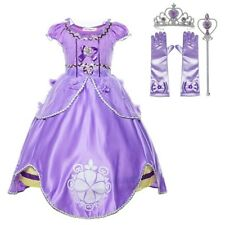 Princess Purple Sofia Costume Dress Party Kids Toddler For Girls Dress Set 3-10T