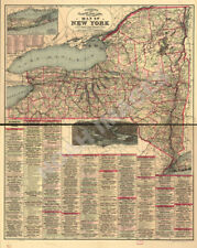 Railroad map of NH c1894 repro 24x30