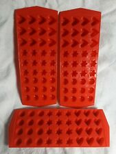 Lot Of 3 Plastic Tray Molds Hearts, Stars, Circles 36 slot each