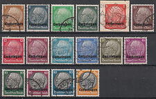 Gestempelte Besetzungsausgaben Briefmarken aus der deutschen Besetzung im 2.Weltkrieg