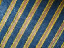Antique 19th Century Fabric Vintage Syrian Cotton Yardage Striped Indigo Pillows