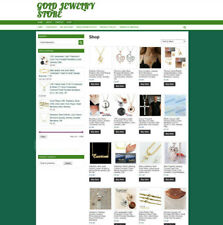 GOLD JEWELRY UK AFFILIATE WEBSITE WITH ONE YEARS HOSTING & DOMAIN