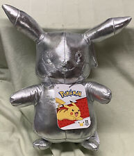 Brand New With Tags 2021 Pikachu Silver Plush Pokemon 25th Anniversary Edition