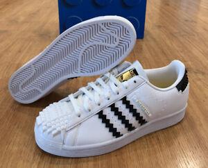 New Adidas Originals Superstar x Lego Shoes Sneakers (GW5270) Men's 7/Wmns 8