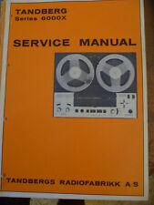 Tandberg   6000X  Reel to Reel Recorder   Service Manual