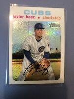 2020 Topps Heritage Javier Baez  White Chrome Refractor #/71 Chicago CUBS