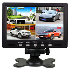 "7"" TFT LCD Color 4 Split Video 4-CH Input Car Rear View Monitor HD 800X480 US"