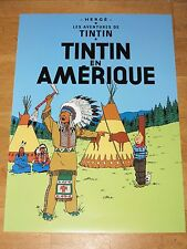 TINTIN POSTER LARGE - TIN TIN EN AMÉRIQUE / IN AMERICA - 70 x 50 cm MINT NEW