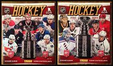 13-14 USA and CANADA Sticker Album Lot of 2 Panini 2013-14 Hockey NHL + Promos