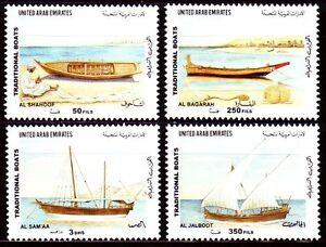 UAE 2001 ** Mi.657/60 Schiffe Boote Ships Boats Bateaux