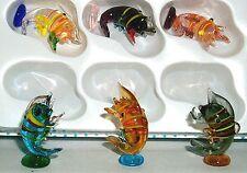 "Lobster ArtGlass MINI 1"" posing upright assorted colors Crawfish 6 pc.box lot"