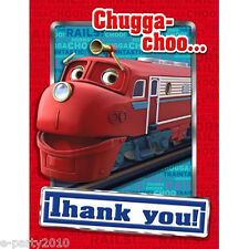 CHUGGINGTON TRAIN THANK YOU CARDS (8) ~ Birthday Party Supplies Stationery Notes