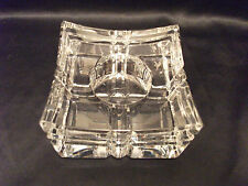 WATERFORD CRYSTAL W COLLECTION CYGNUS CANDLE STICK VOTIVE HOLDER IRELAND RARE