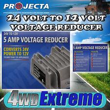 PROJECTA 5 AMP VOLTAGE REDUCER COVERTS 24 VOLT TO 12 VOLT TRUCK CAR RADIO VR005