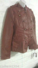 Steve Madden Women's Military-inspired Jacket Cognac Color New with Tag XL