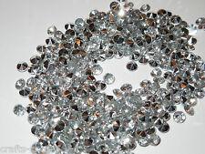 100 DIAMANTEN  Silber Streuelemente Streudeko  Tischdeko  Basteln ca: 4,5 mm
