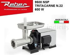 Indici15 Tritacarne Elettrico INOX 9500NSP n°22 600W 0,80HP Professionale Reber