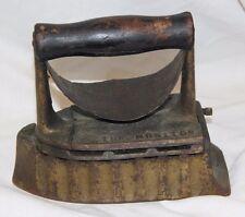 "Antique Cast Iron ""The Monitor""  Sad Iron PAT April 14 1903"